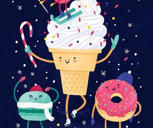 ice cream, christmas, and donuts image
