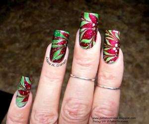 christmas, manicure, and nail art image