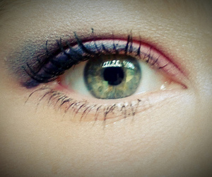 blue, makeup, and pretty image