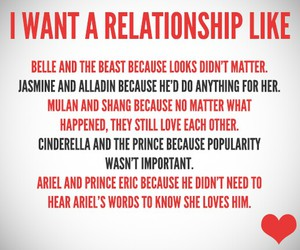 Relationship, disney, and princess image