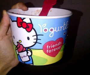hello kitty, friends forever, and yogurt image