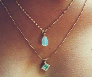 blue, necklace, and green image