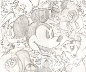 ariel, disney, and mickey mouse image