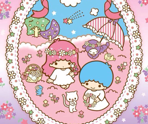 little twin stars, sanrio, and wallpaper image