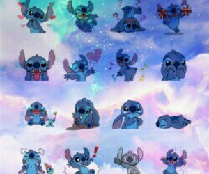 background, galaxy, and lilo image