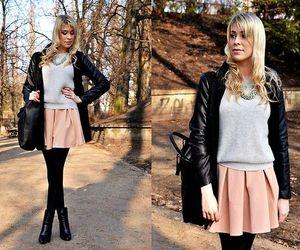 class, fall fashion, and jacket image
