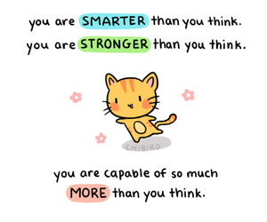 strong, cat, and chibird image