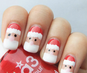 christmas, nails, and santa image