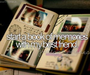memories, friends, and book image