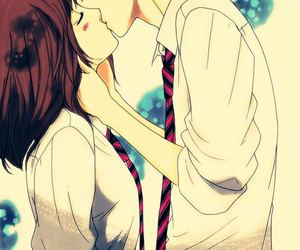 ao haru ride, kiss, and anime image