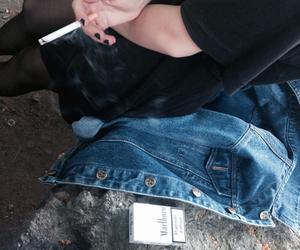 grunge, cigarette, and smoke image