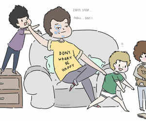 1d, one direction, and larry image