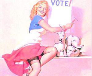 vote, pinup, and vintage image
