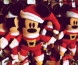 disney, mickey mouse, and christmas image