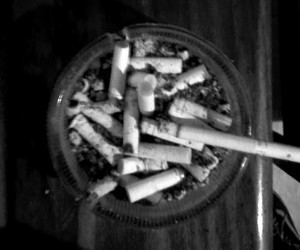 black and white, bored, and cigarette image