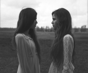 black and white, models, and creepy image