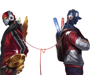 zed, shen, and league of legends image