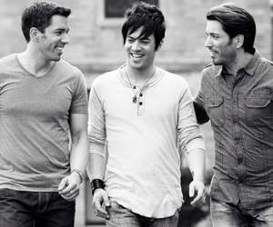 black and white, property brothers, and guys image