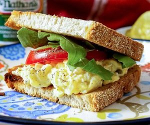 egg, pickles, and sandwich image