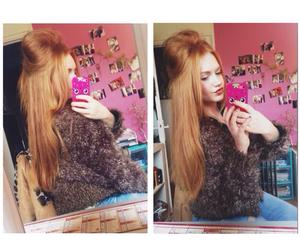 ginger, girl, and longhair image