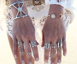 rings, accessories, and boho image