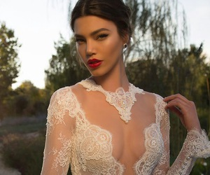 beautiful, vestido, and wedding image
