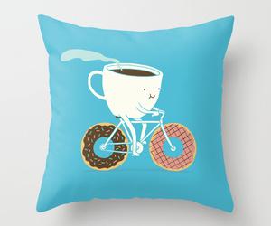 donuts, coffee, and bike image