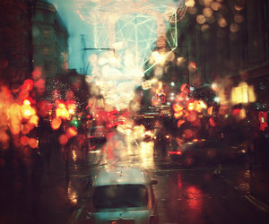 car, landscapes, and raining image