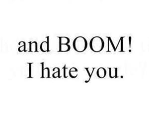 hate, boom, and quotes image