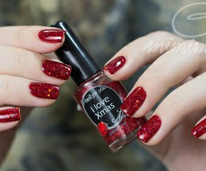 awesome, beautiful, and christmas nails image