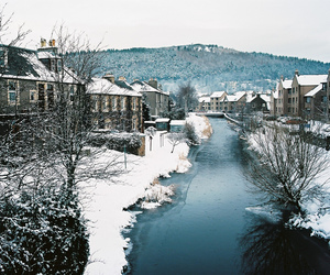 winter, snow, and river image