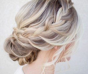 blonde, bride, and hair style image