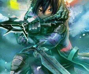 anime, sword, and sword art online image