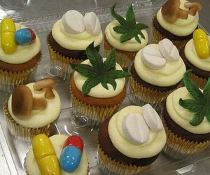 cupcake, drugs, and weed image