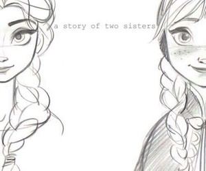 frozen, sisters, and elsa image