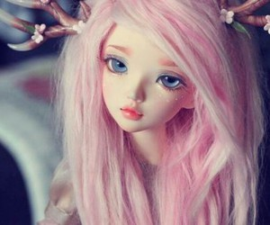 doll, beautiful, and pink hair image