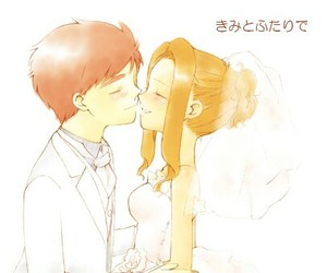 anime, manga, and wedding image