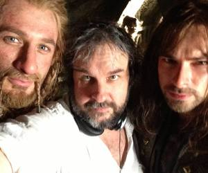 peter jackson, the hobbit, and aidan turner image