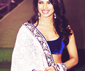 priyanka chopra, bollywood, and saree image