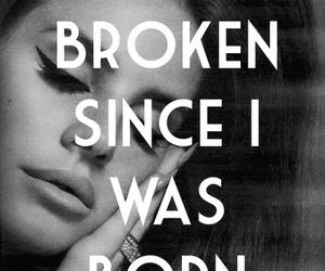 lana del rey, sad, and broken image