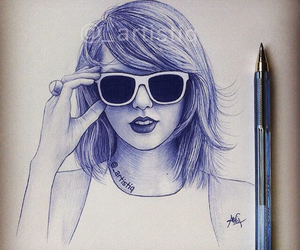 Taylor Swift, drawing, and artistiq image
