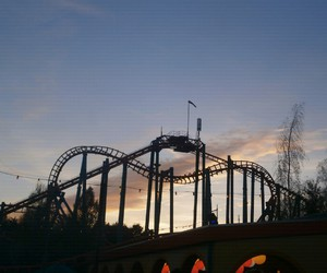 holland, rollercoaster, and sunset image