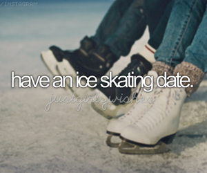 date and ice skating image