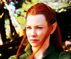 the hobbit, evangeline lilly, and tauriel image
