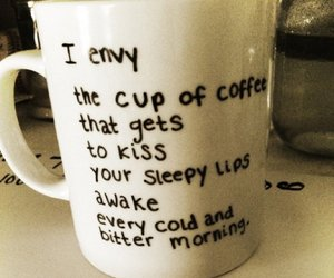 coffee, love, and kiss image