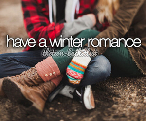 winter, love, and romance image