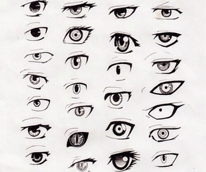 anime, eyes, and girl image