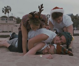 beach, tristan evans, and christmas image