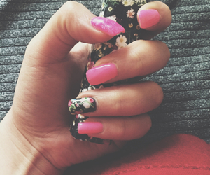 fashion, flowers, and pinknails image