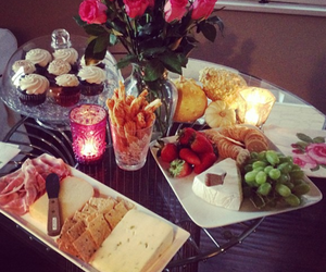 food, rose, and breakfast image